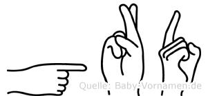 Görd in Fingersprache für Gehörlose