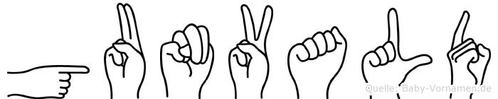 Gunvald in Fingersprache für Gehörlose
