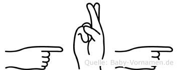 Görg in Fingersprache für Gehörlose