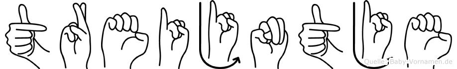 Treijntje in Fingersprache für Gehörlose