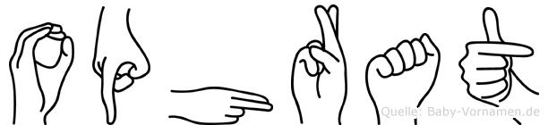 Ophrat in Fingersprache für Gehörlose