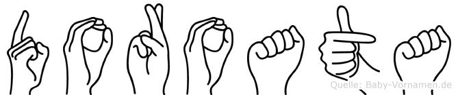 Doroata in Fingersprache für Gehörlose