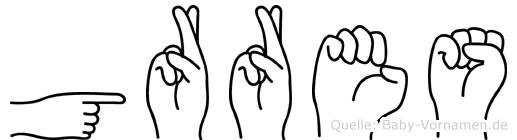 Görres in Fingersprache für Gehörlose