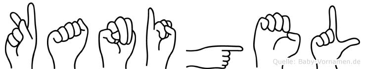 Kanigel in Fingersprache für Gehörlose