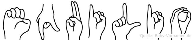 Equilio in Fingersprache für Gehörlose