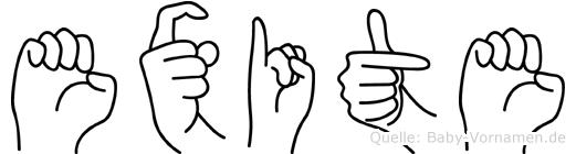 Exite in Fingersprache für Gehörlose