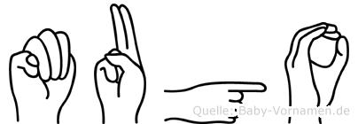 Mugo in Fingersprache für Gehörlose