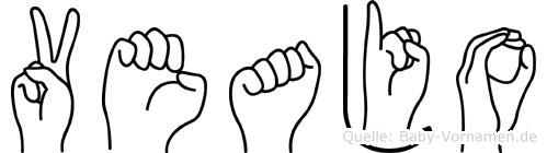 Veajo in Fingersprache für Gehörlose