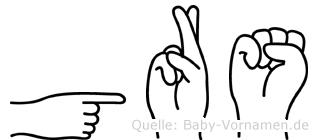 Görs in Fingersprache für Gehörlose
