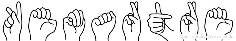 Kemartre im Fingeralphabet der Deutschen Gebärdensprache