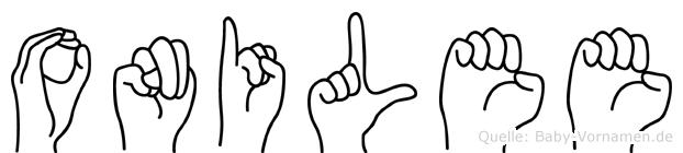Onilee in Fingersprache für Gehörlose