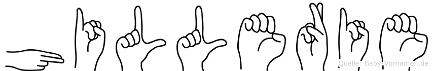 Hillerie in Fingersprache für Gehörlose