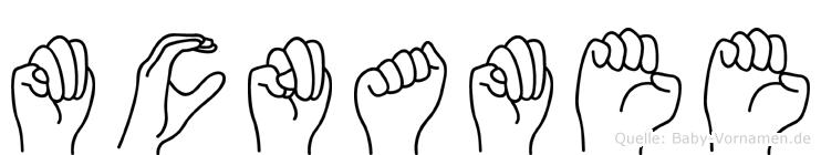 Mcnamee im Fingeralphabet der Deutschen Gebärdensprache