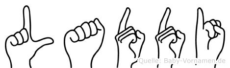 Laddi in Fingersprache für Gehörlose