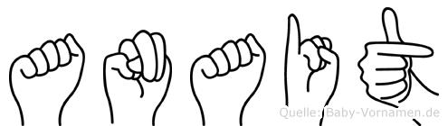 Anait im Fingeralphabet der Deutschen Gebärdensprache