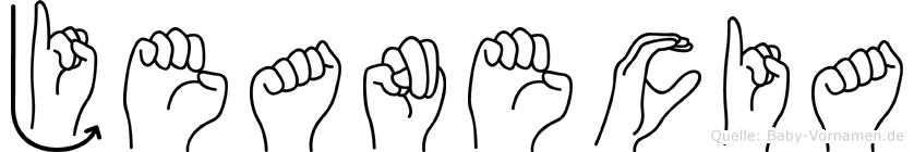 Jeanecia im Fingeralphabet der Deutschen Gebärdensprache
