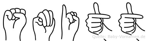 Smitt im Fingeralphabet der Deutschen Gebärdensprache