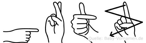 Görtz in Fingersprache für Gehörlose