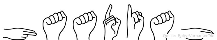 Haadiah im Fingeralphabet der Deutschen Gebärdensprache