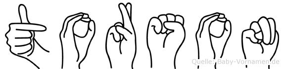 Torson in Fingersprache für Gehörlose