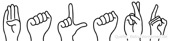 Balard in Fingersprache für Gehörlose