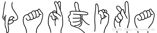 Partika in Fingersprache f�r Geh�rlose