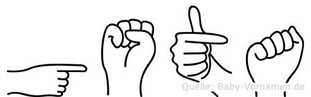 Gösta in Fingersprache für Gehörlose