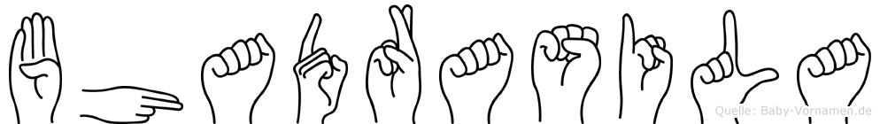 Bhadrasila im Fingeralphabet der Deutschen Gebärdensprache