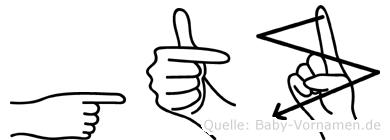 Götz in Fingersprache für Gehörlose