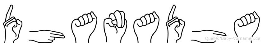 Dhanadha in Fingersprache für Gehörlose
