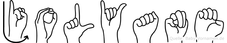 Jolyane in Fingersprache für Gehörlose