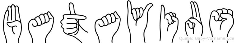 Batayius in Fingersprache für Gehörlose