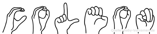 Coleon im Fingeralphabet der Deutschen Gebärdensprache