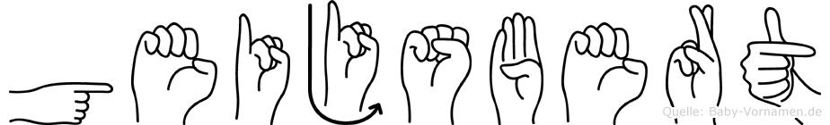 Geijsbert im Fingeralphabet der Deutschen Gebärdensprache