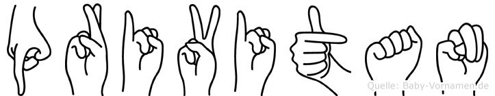 Privitan im Fingeralphabet der Deutschen Gebärdensprache