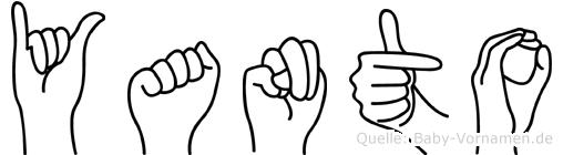 Yanto im Fingeralphabet der Deutschen Gebärdensprache