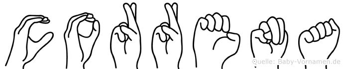 Correna in Fingersprache für Gehörlose
