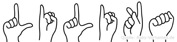 Lilika in Fingersprache für Gehörlose