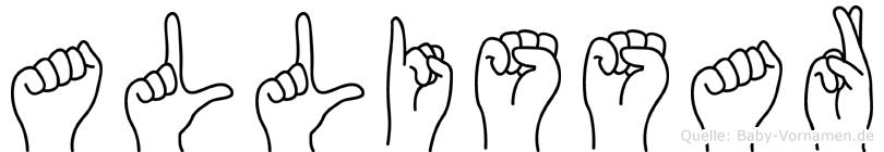 Allissar in Fingersprache für Gehörlose