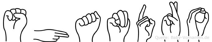 Shandro im Fingeralphabet der Deutschen Gebärdensprache