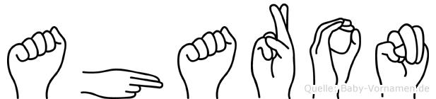 Aharon in Fingersprache für Gehörlose