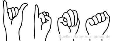 Yima im Fingeralphabet der Deutschen Gebärdensprache