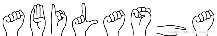 Abilasha in Fingersprache für Gehörlose