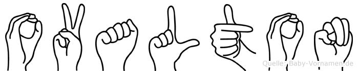 Ovalton in Fingersprache für Gehörlose