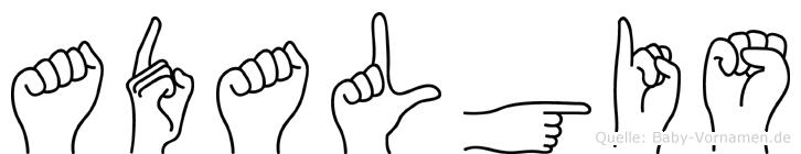 Adalgis in Fingersprache für Gehörlose