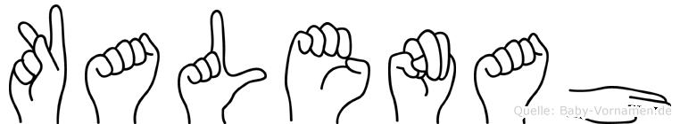 Kalenah in Fingersprache für Gehörlose