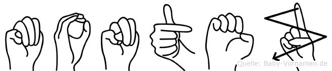 Montez in Fingersprache für Gehörlose