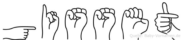Gisset in Fingersprache für Gehörlose