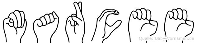 Marcee in Fingersprache für Gehörlose