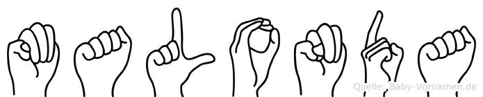 Malonda in Fingersprache für Gehörlose